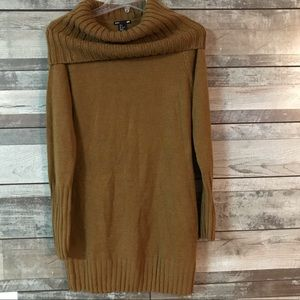 H&M sweater dress long sleeve cowl neck brown Sm